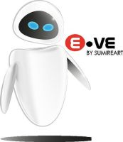 Eve - Wall-E By Sumiresou by sumires0u