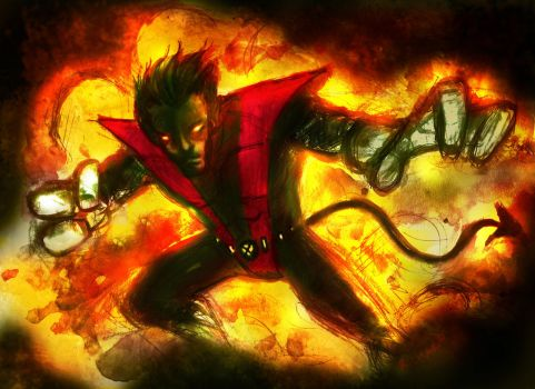 Nightcrawler  Bamf by richard-chin
