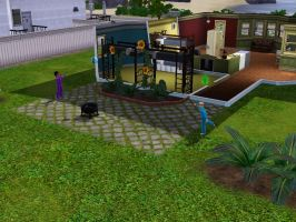 Sims 3 - Annasophia and Violet are getting along by Magic-Kristina-KW