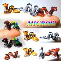 Micro Dragons! by LittleCLUUs