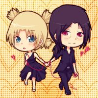 Chibi ItachixTemari :Darkmarty by Quiss