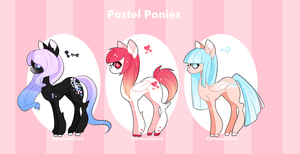 Pastel ponies closed by CarouselCove
