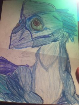 Derp. It's a me.... I guess.... in Oviraptor form? by Marblesaurus