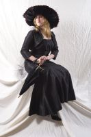 The Lady in Black by lindowyn-stock