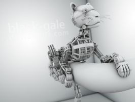 Mecha cat by Black-Gale