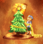Laytons Christmas Tree by chaoskitty1257