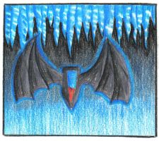 Bat wings in Ice cavern by Shadow-wolven