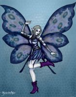 Hyacinthia: The Goth Moth by Five-Foot-Fierce