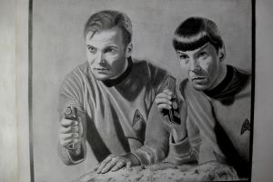Kirk and Spock by depoi