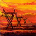 Transmission Towers by KillerWaffleFreak