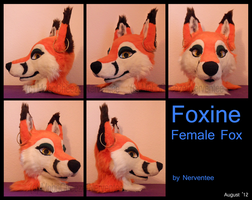 Foxine [Fursuit Head] by Nerventee
