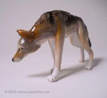 Red Wolf Sculpture by LastMorbidRose