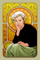 Marilyn Monroe in Mucha by hamdiggy