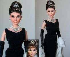 Audrey Hepburn custom doll by noeling