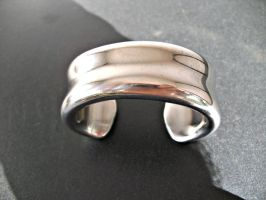 Hollow Forged Woman's Cuff by ou8nrtist2