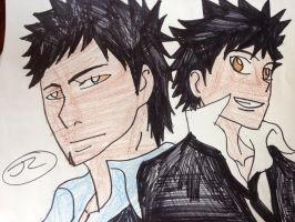 KHR This both of sexy guy and cool guy by Bluedragoncartoon