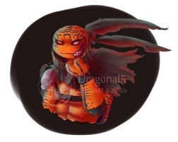 tmnt oc K.C. Colorized by Dragona15