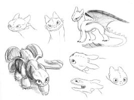 Toothless Sketch Dump by AriellaMay