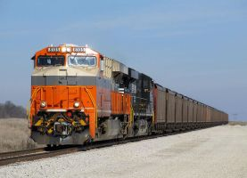 Interstate heritage # 8105 leads loaded coal # 70E by EternalFlame1891