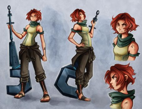 Astryd Character Concept 01 by Snow the Wanderer by Drew-Writer