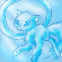 Blue Mew request by Blue-Uncia
