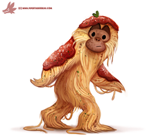 Daily Paint #1133. Saucesquatch by Cryptid-Creations