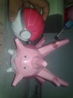 Corsola and a pokeball by benneth0820