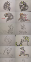 Sketch doodle dump traditional by Rather-Be-Raving