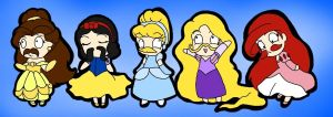 Disney Princesses by Queen-Of-Cute