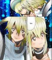 Hack. G.U Atoli and Haseo by Lucy051