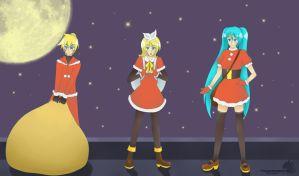 Vocaloid Secret Santa -snibu- by TsukiAnimeGirl