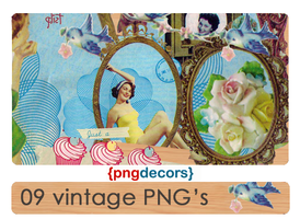 Vintage PNG decors by snappedbeat