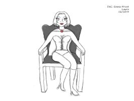 Daily Sketch Challenge: Emma Frost by subatomiclaura