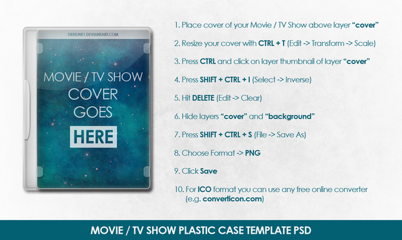 Movie / TV Show Plastic Case Template PSD by FirstLine1