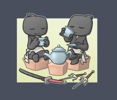 Ninja Tea Time by Sanaril