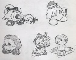 Lil' Kirby OCs by shadenightfox