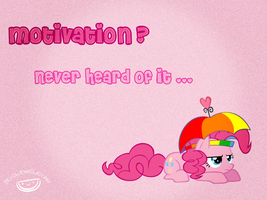 Pinkie Pie Wallpaper: Motivation? by strawbellycake