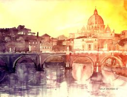 Sunset in Rome by takmaj