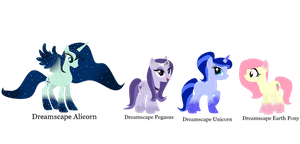 New Species: Dreamscape Ponies by PricessOfTheNight