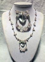 Heart Drop Necklace - FOR SALE by Thy-Darkest-Hour