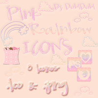 Pink Rainbow Icons by DubiDubiKelin