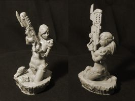 weapongirl sculpt part2 by OmrZrn