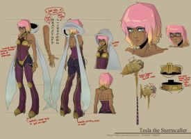 LoL - Tesla OC model sheet by chiihun