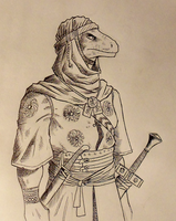 ''Daily'' sketch - Bedoulizard by 0laffson