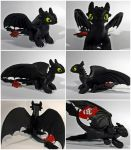 Toothless sculpture - COMMISIONED by CuteDragonsAndMore