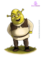 Fan Art Shrek by brunasousa
