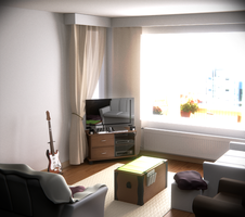 My living room, blender 3d by Orientaliser