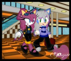 CM: Cici and Cindyy Shopping by CCmoonstar23