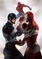 Civil War: Get Along Web by MeTaa