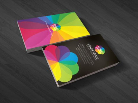 Color blossom business card by Lemongraphic